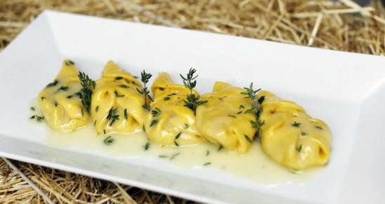 Spighe al basilico in crema di burro e timo